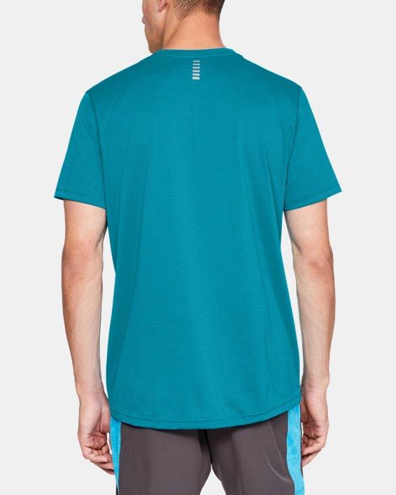 Men's UA Run Tall Graphic T-Shirt, Blue, pdpMainDesktop image number 2
