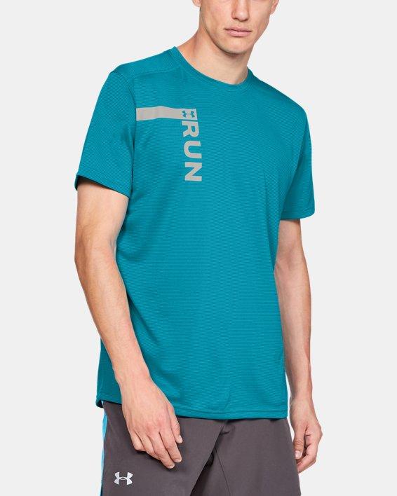 Men's UA Run Tall Graphic T-Shirt, Blue, pdpMainDesktop image number 0