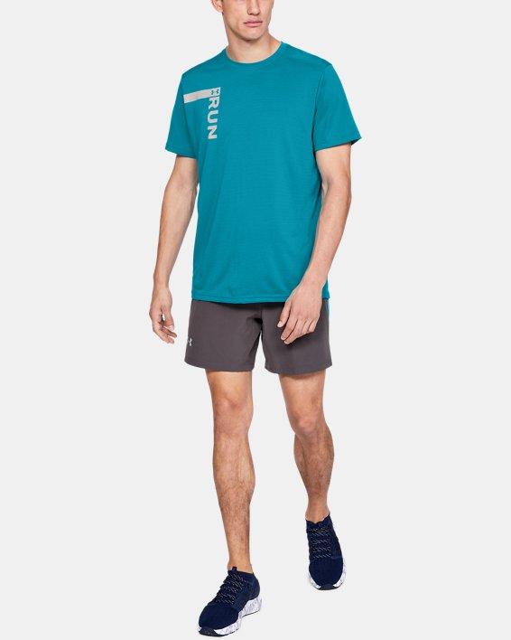 Men's UA Run Tall Graphic T-Shirt, Blue, pdpMainDesktop image number 1