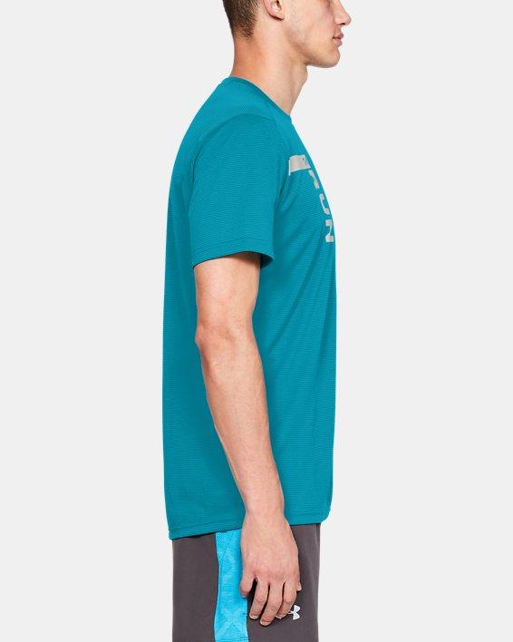 Men's UA Run Tall Graphic T-Shirt, Blue, pdpMainDesktop image number 3