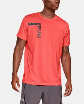 Men's UA Run Tall Graphic T-Shirt  1  Color Available $35