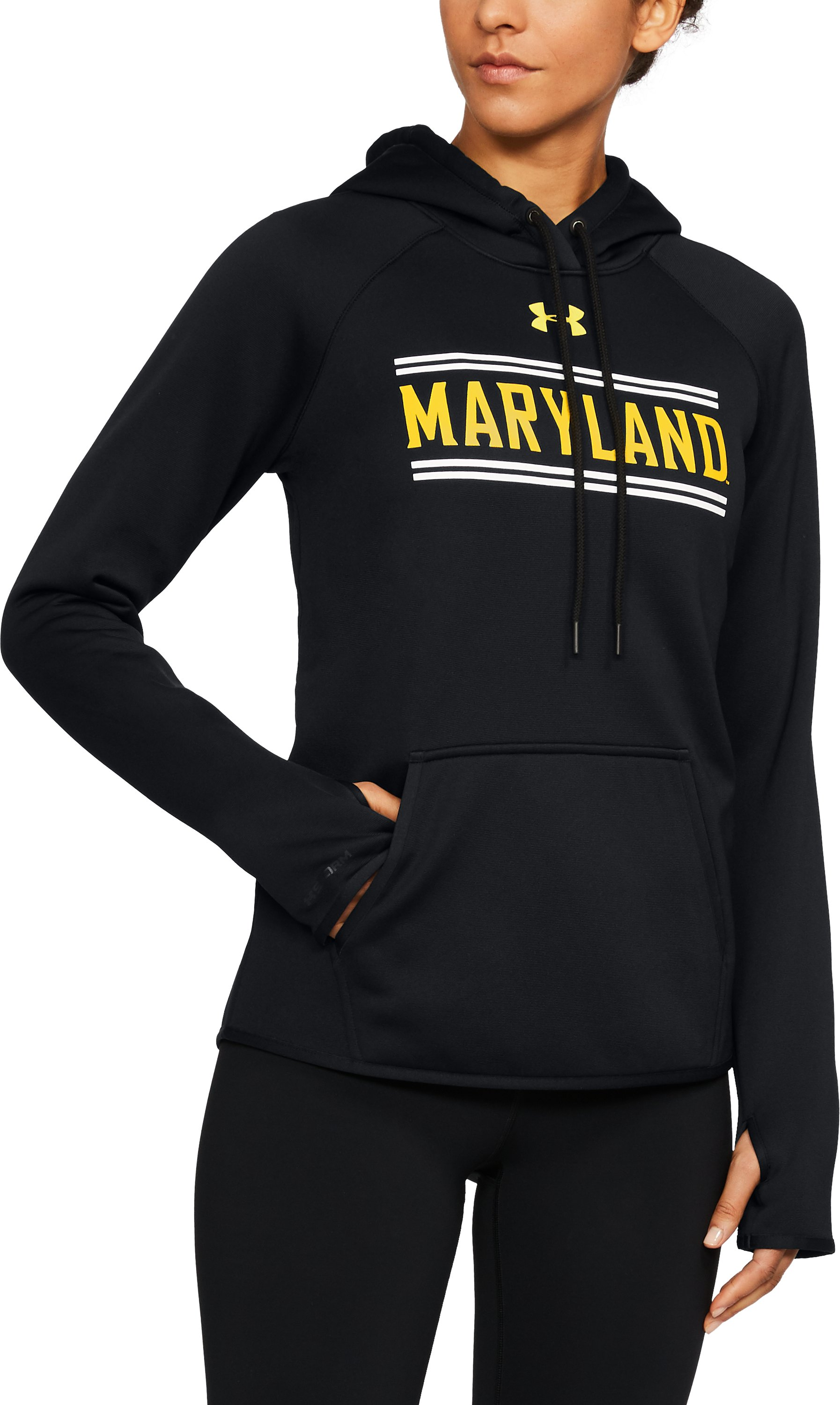 Women's Maryland Armour® Fleece Hoodie, Black , undefined