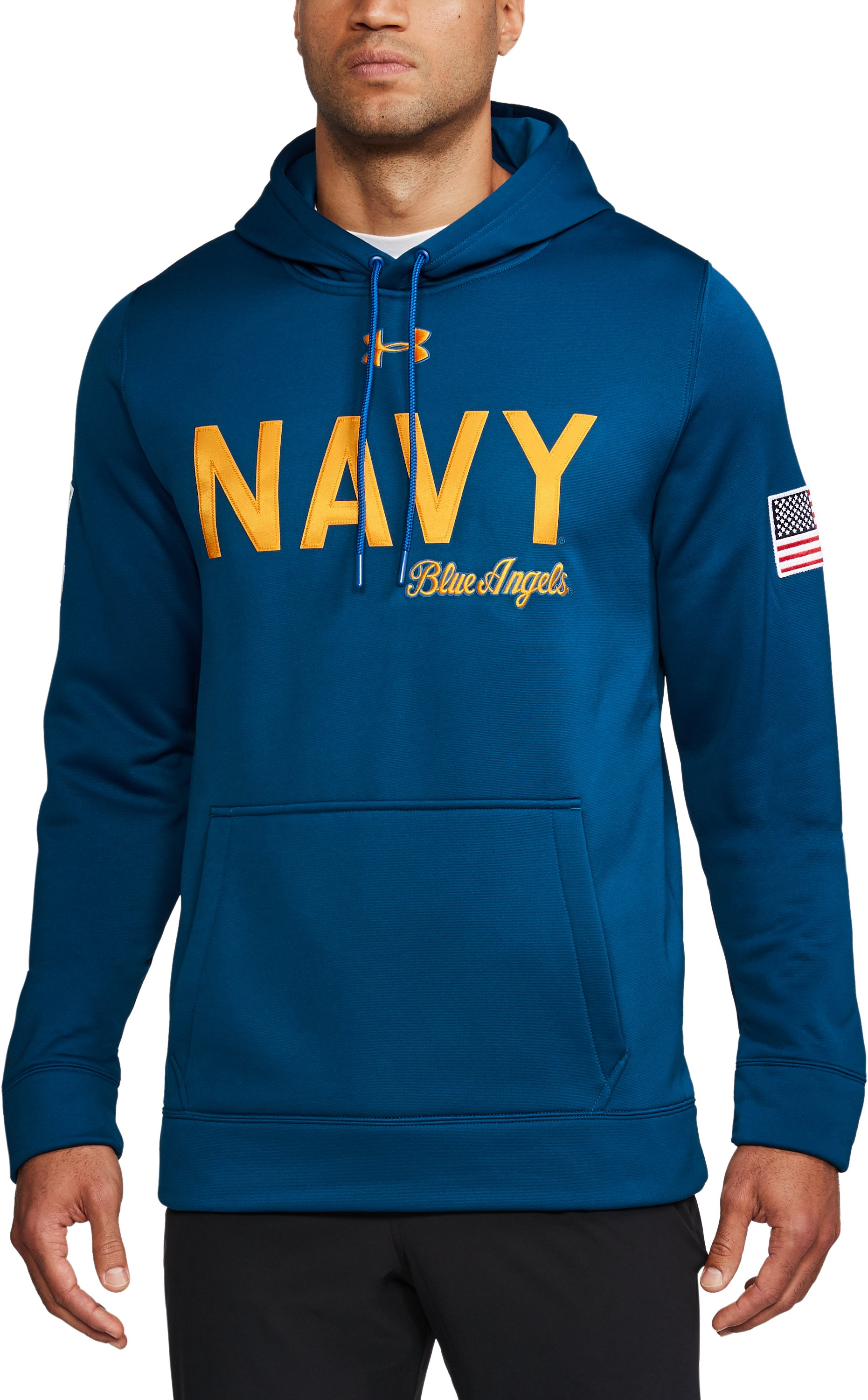 Men's Naval Academy Armour Fleece® Hoodie, Royal, undefined