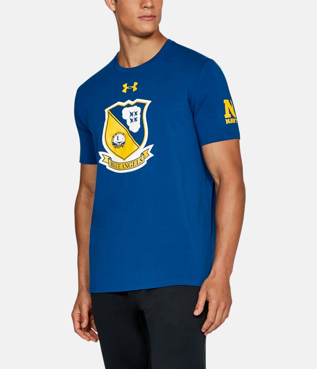 Men 39 s naval academy charged cotton t shirt under armour us for Academy under armour shirts