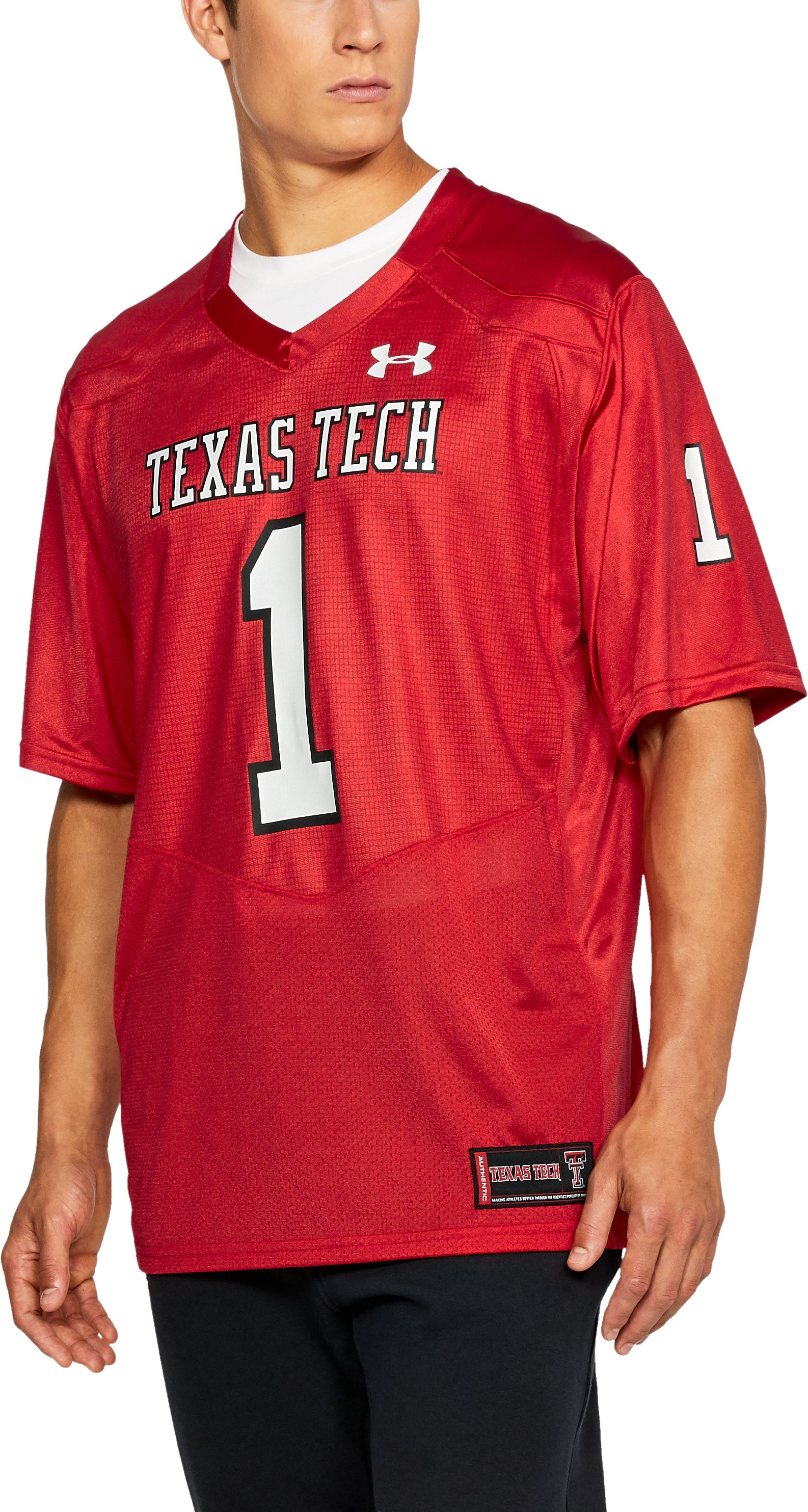 Men's Texas Tech Replica Jersey, Red,
