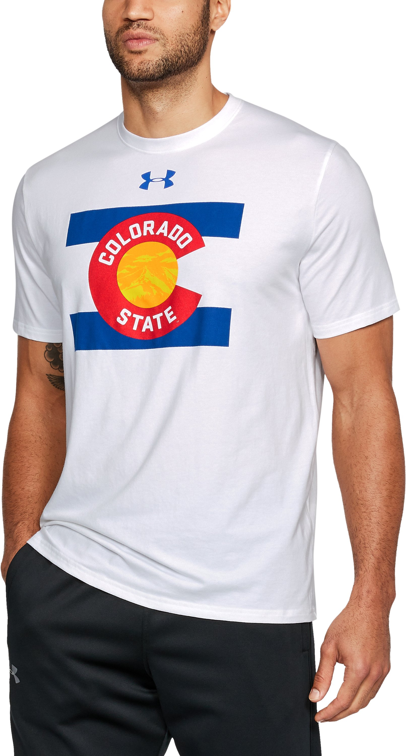 Men's Colorado State UA Flag T-Shirt, White