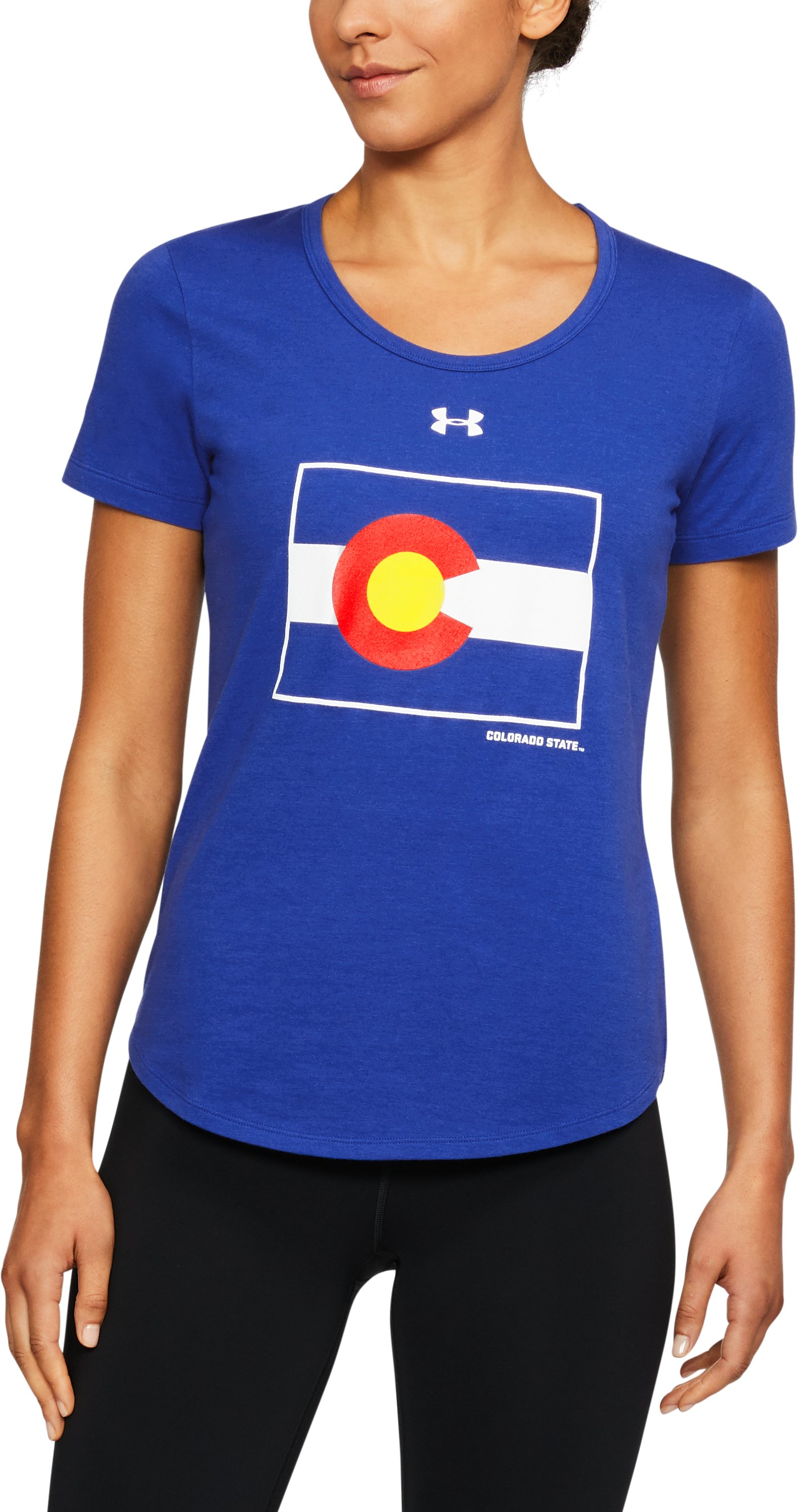 Women's Colorado State Charged Cotton® Flag T-Shirt, Royal,