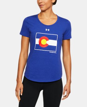 New Arrival Women's Colorado State Charged Cotton® Flag T-Shirt  1 Color $32.99
