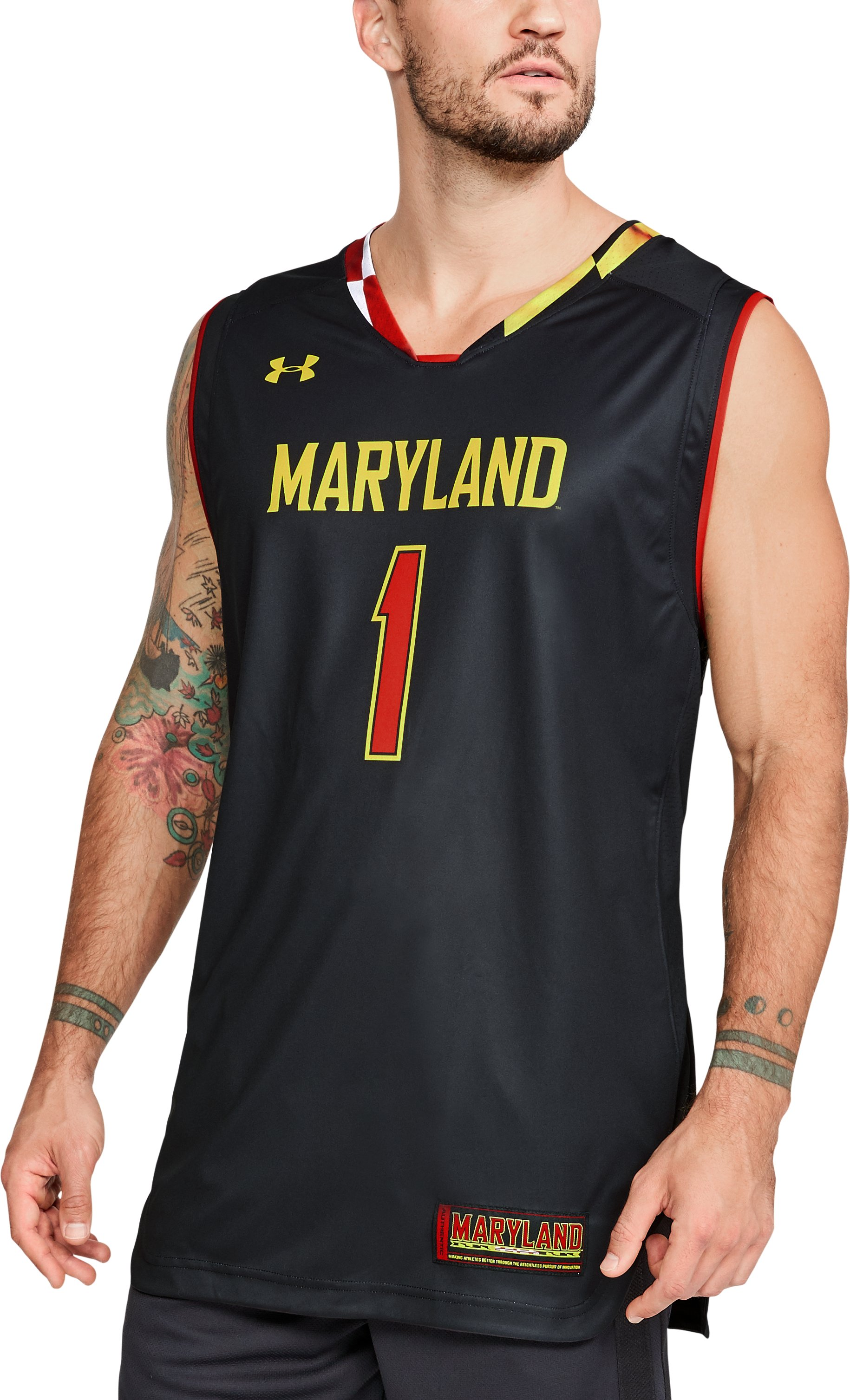 Men's Maryland Basketball Replica Jersey, Black