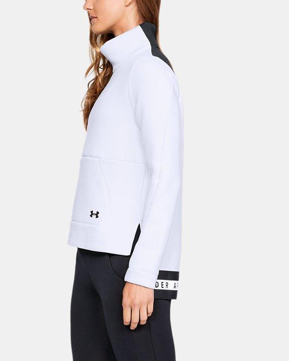Women's UA Move Mock Long Sleeve, White, pdpMainDesktop image number 3