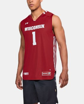 Men's Wisconsin Basketball Replica Jersey  1 Color $56.99