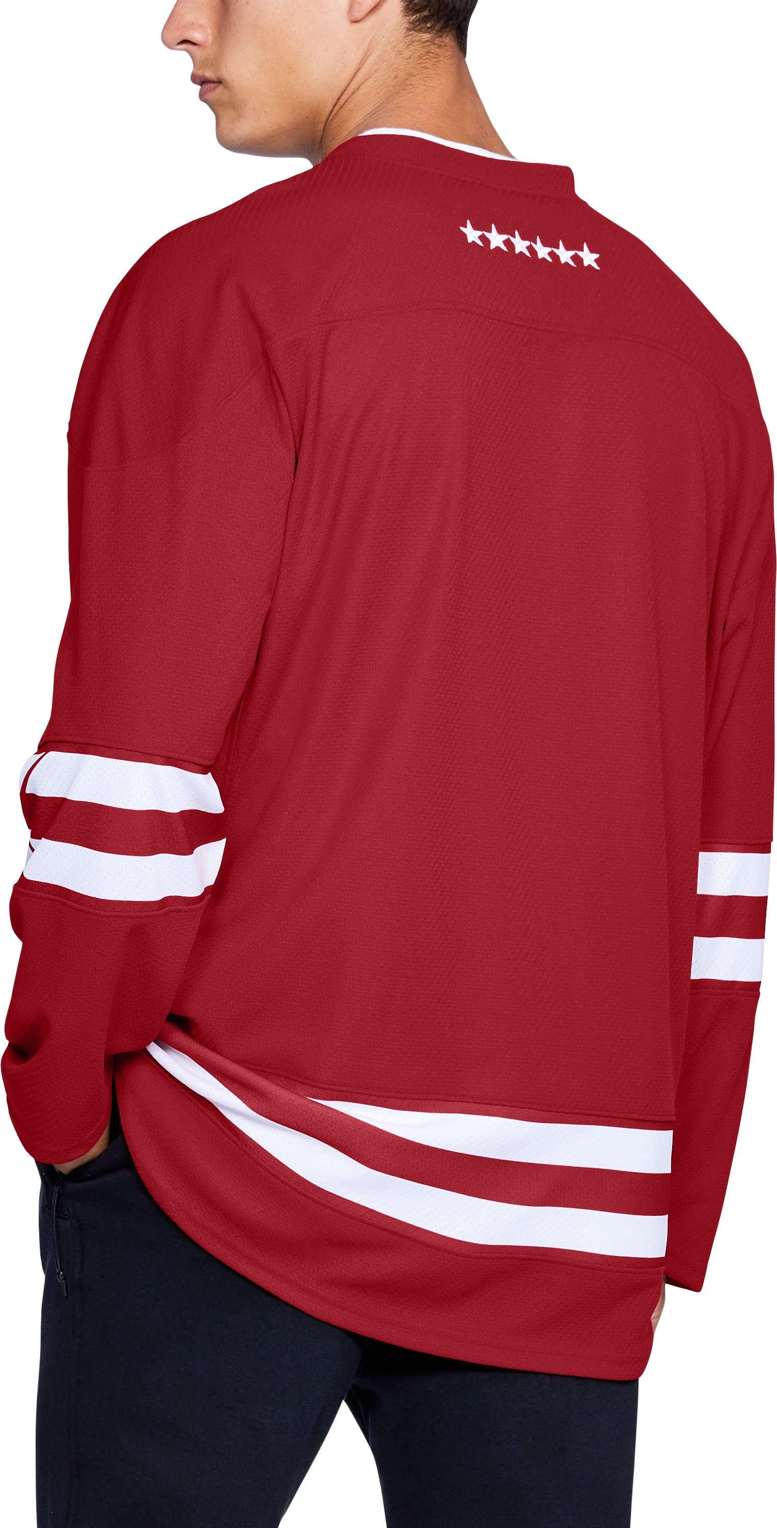 Men's Wisconsin Hockey Replica Jersey, Flawless,