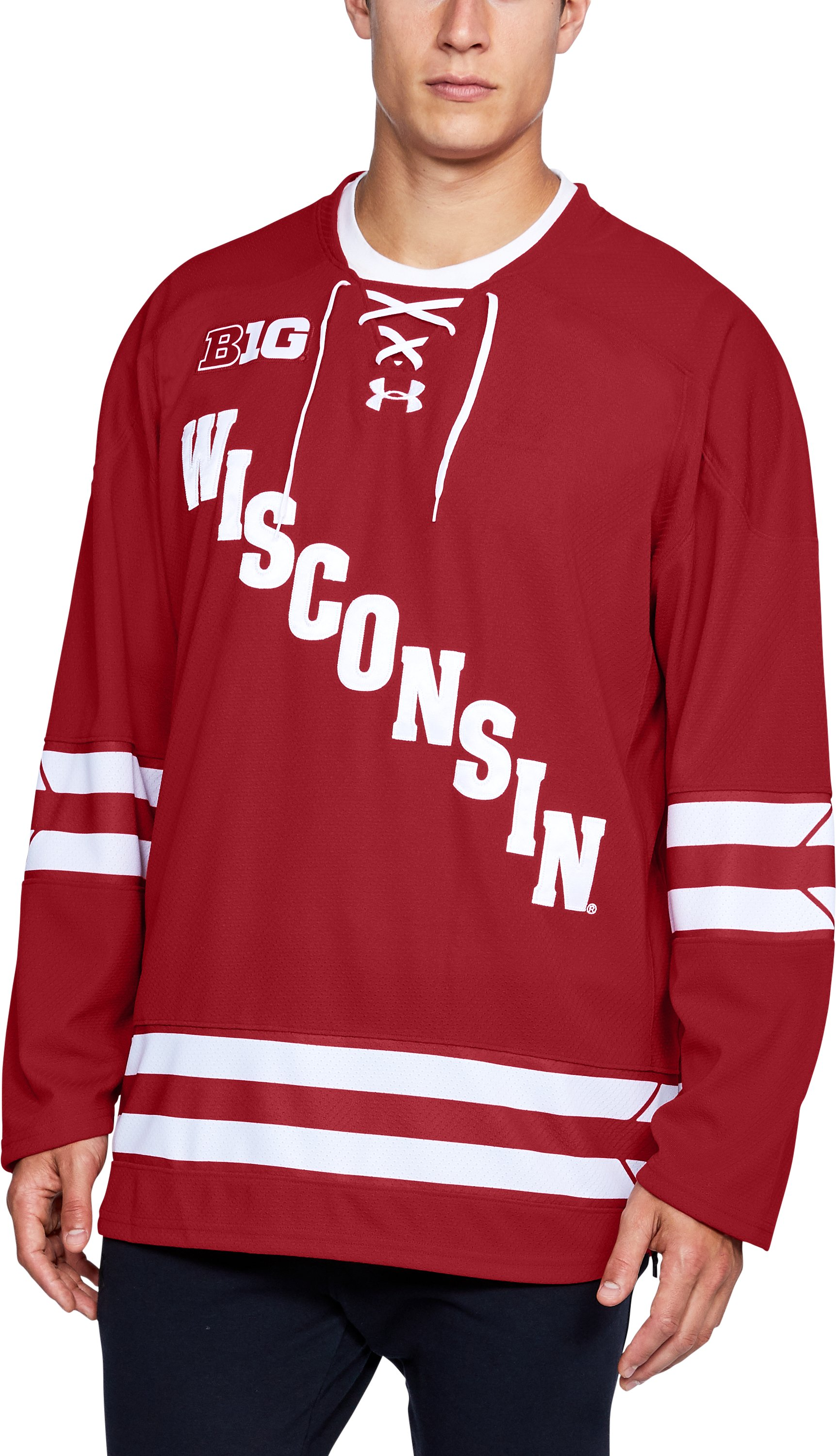 Men's Wisconsin Hockey Replica Jersey, Flawless