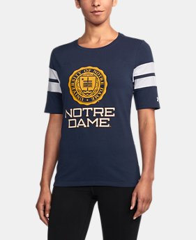 Women's Notre Dame UA Iconic Charged Cotton® T-Shirt  1 Color $47.99