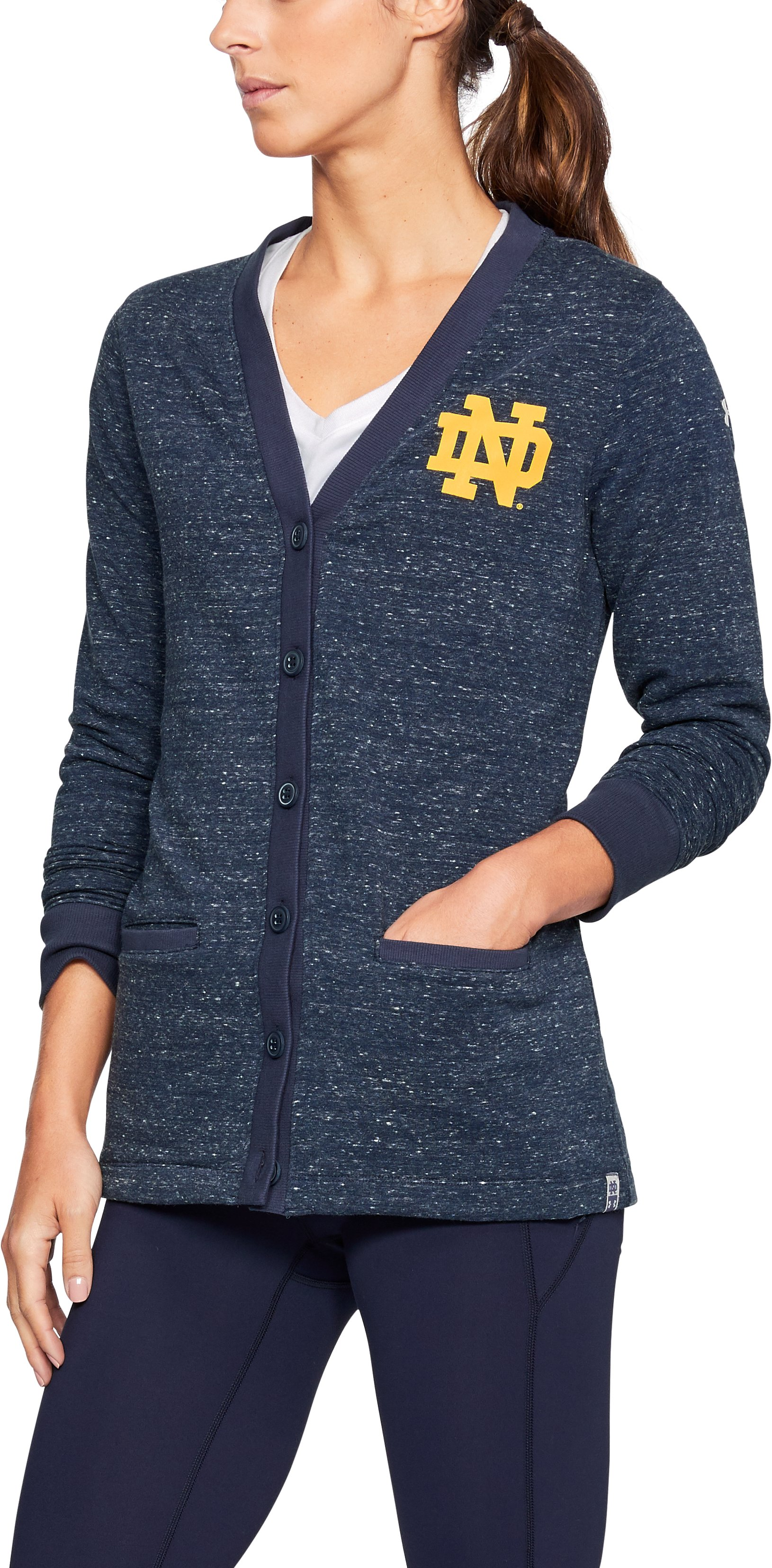 iconic hoodies Women's Notre Dame UA Iconic Cardigan