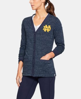 Women's Notre Dame UA Iconic Cardigan  1  Color Available $71.99