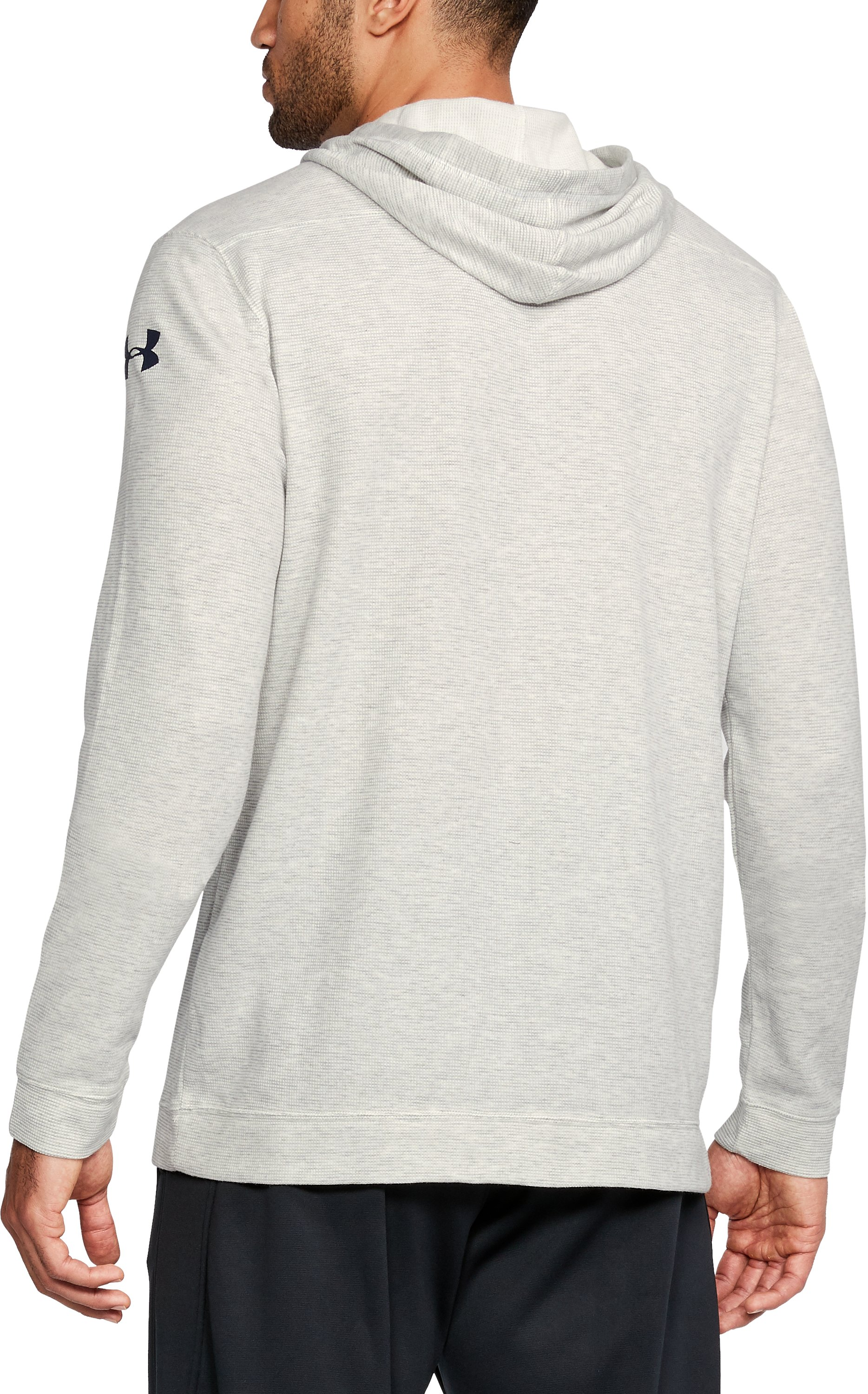 Men's Notre Dame UA Iconic Waffle Hoodie, White, undefined