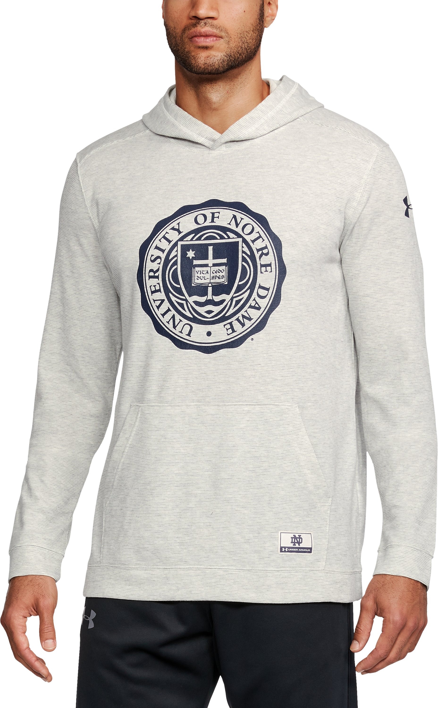 Men's Notre Dame UA Iconic Waffle Hoodie, White