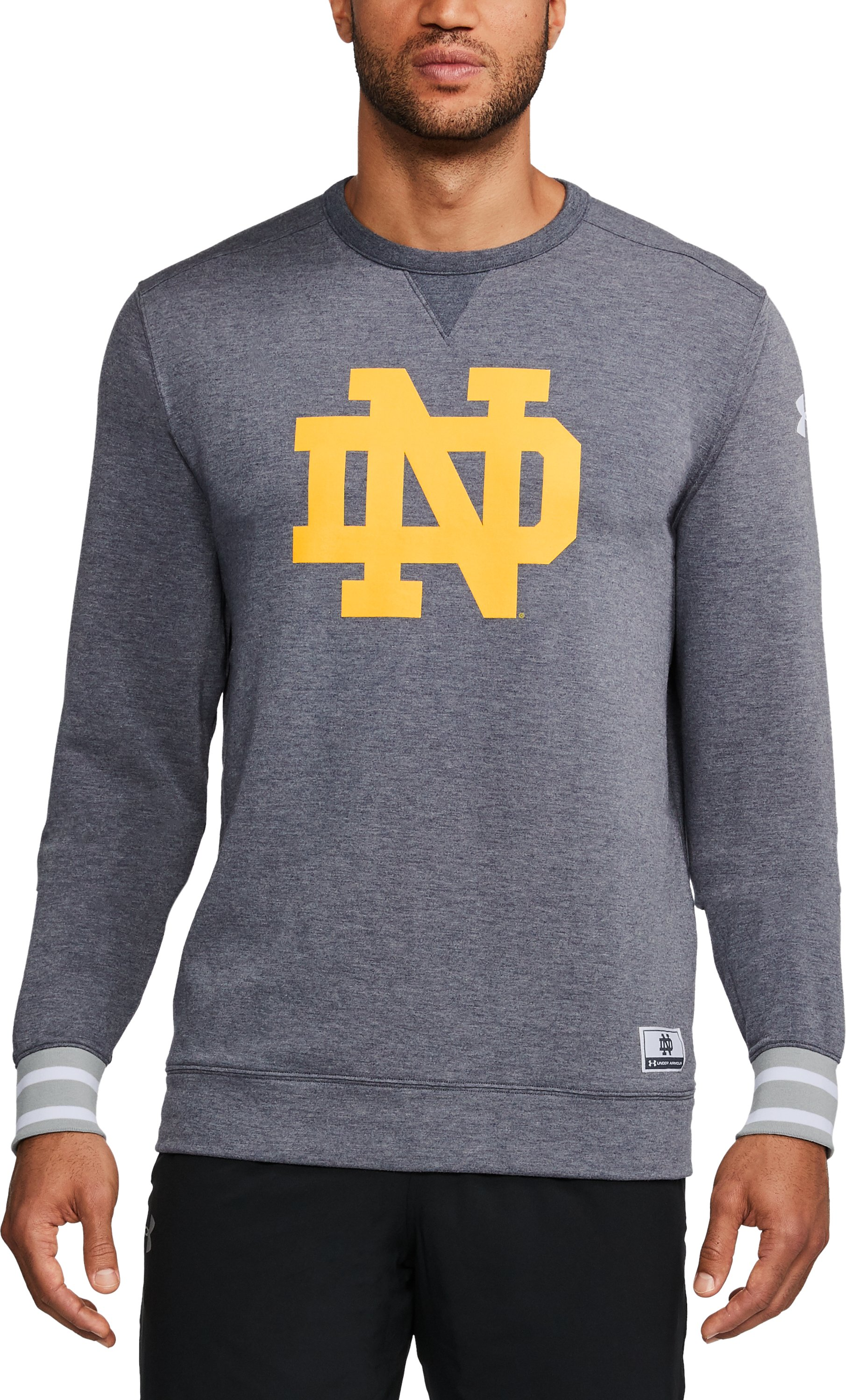 Men's Notre Dame UA Iconic Crew, Midnight Navy, undefined