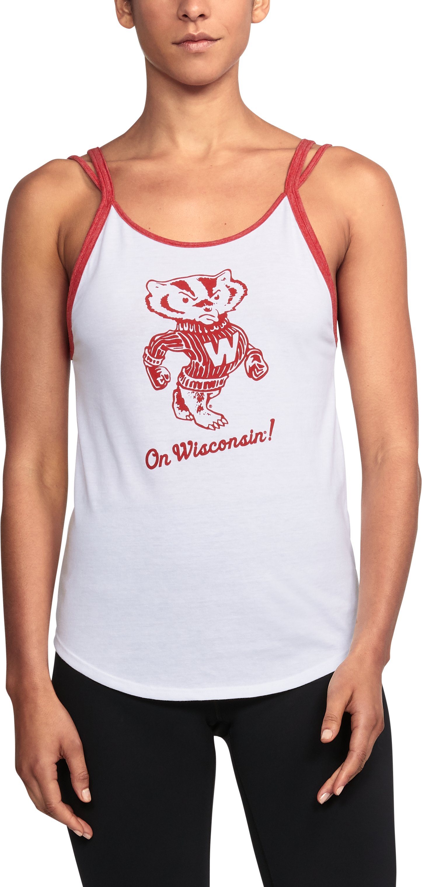 Women's Wisconsin UA Iconic Tank, White