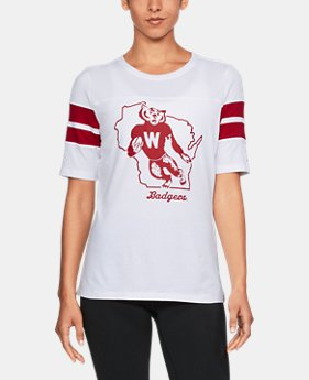 New to Outlet Women's Wisconsin UA Iconic T-Shirt  1 Color $35.99