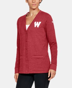 Women's Wisconsin UA Iconic Cardigan  1 Color $94.99