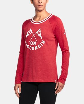 Women's Wisconsin UA Iconic Rugby Long Sleeve  1 Color $59.99