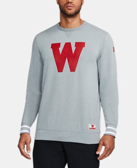 New Arrival Men's Wisconsin UA Iconic Crew   $89.99