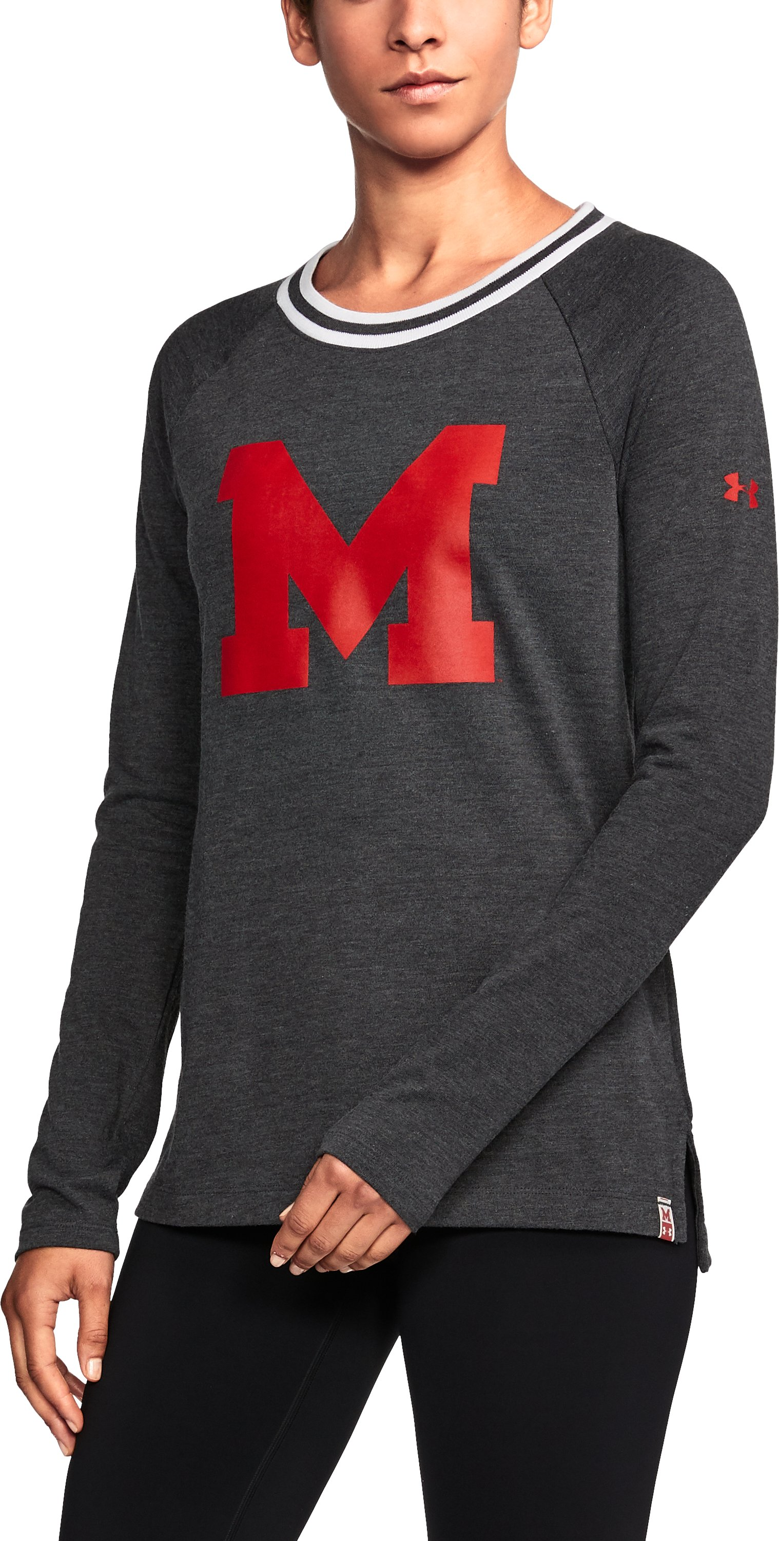 Women's Maryland UA Iconic Rugby Long Sleeve 1 Color $59.99