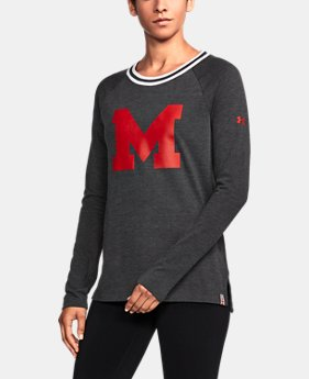 Women's Maryland UA Iconic Rugby Long Sleeve  1  Color Available $59.99