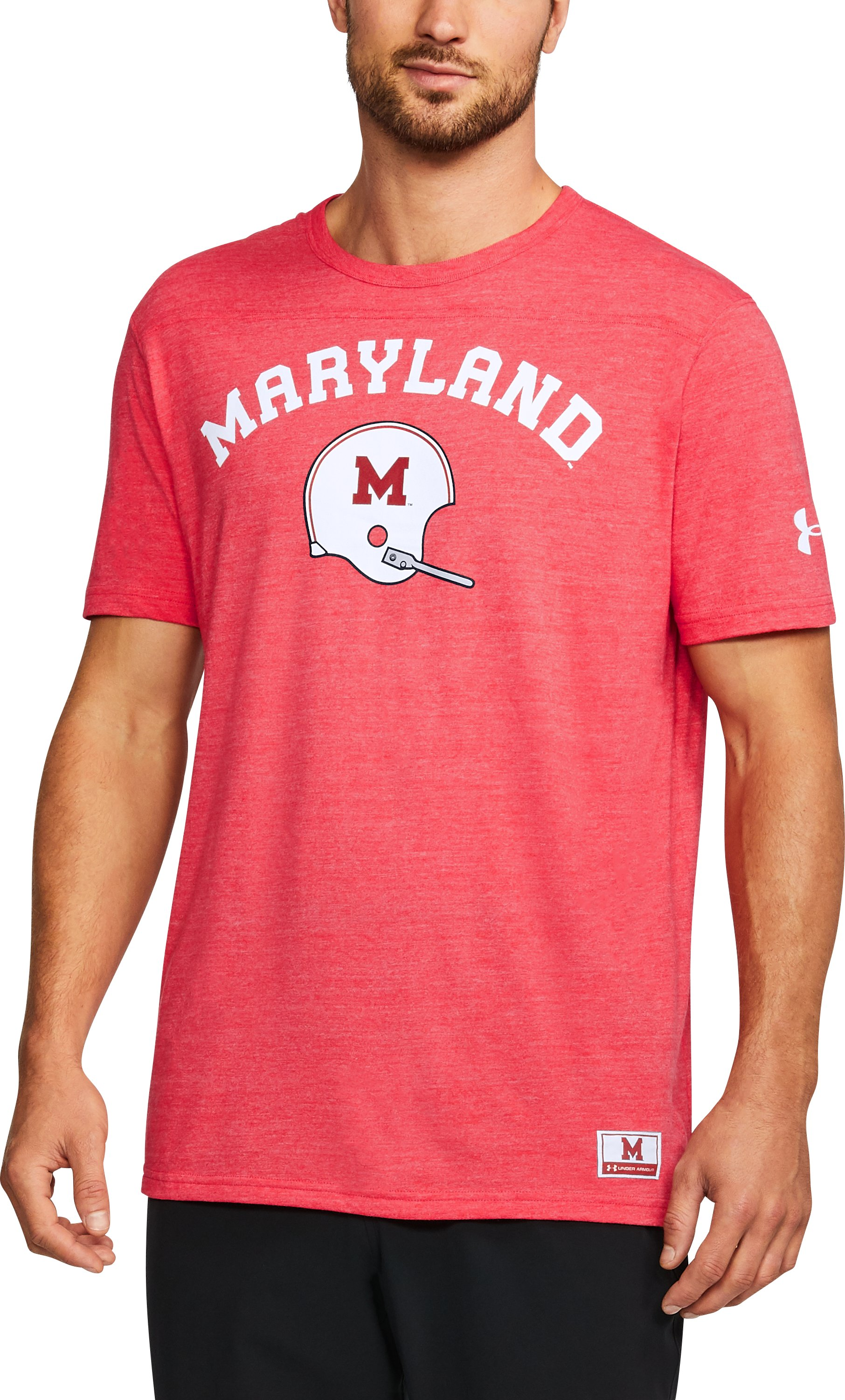Men's Maryland UA Tri-Blend T-Shirt, Red,