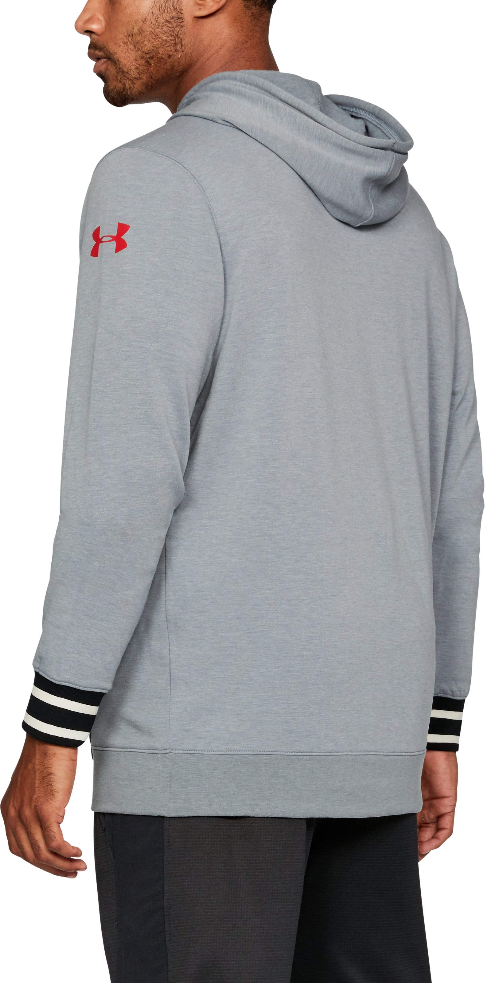Men's Maryland UA Iconic Hoodie, Gray,