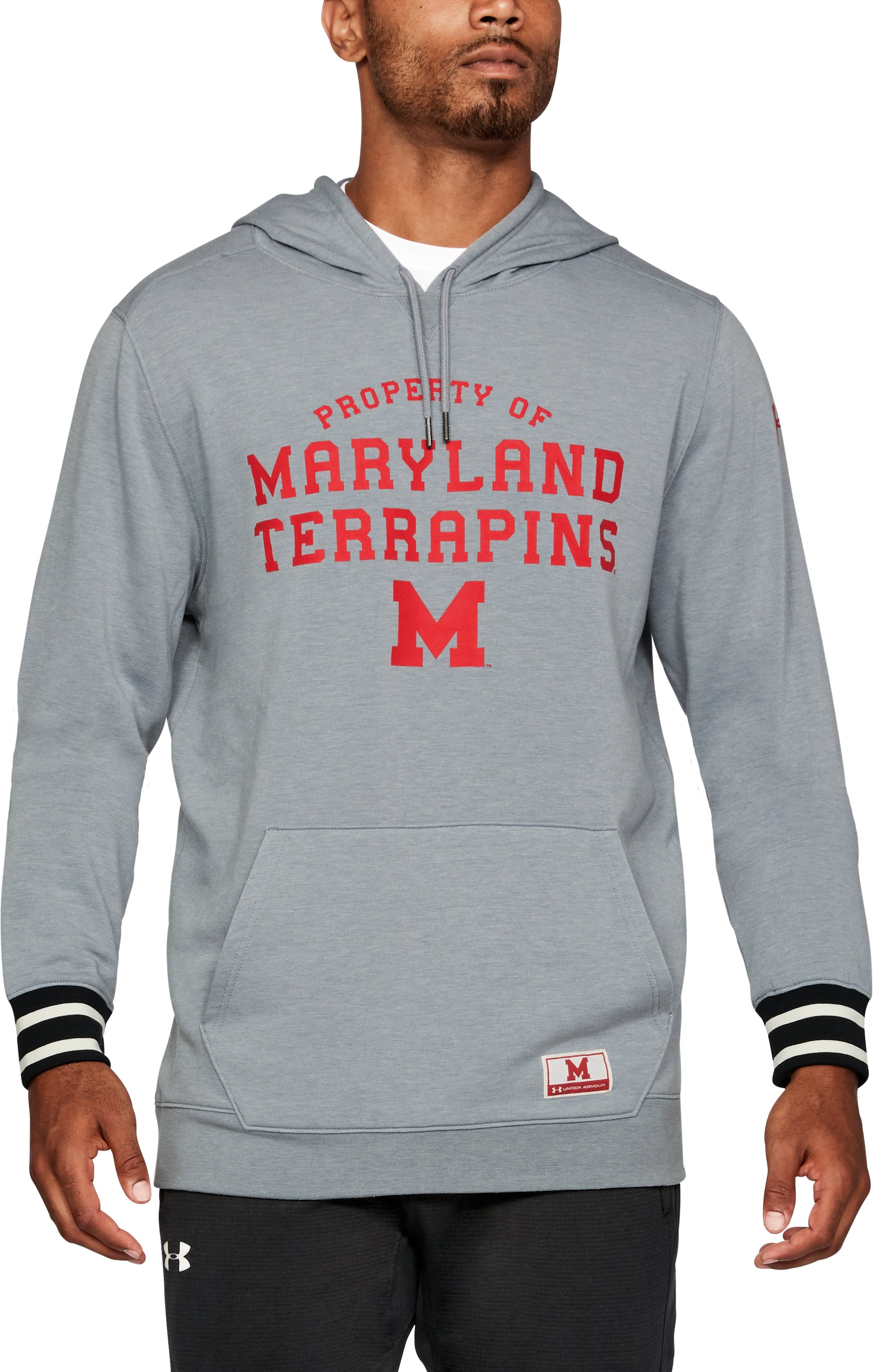 Men's Maryland UA Iconic Hoodie, Gray