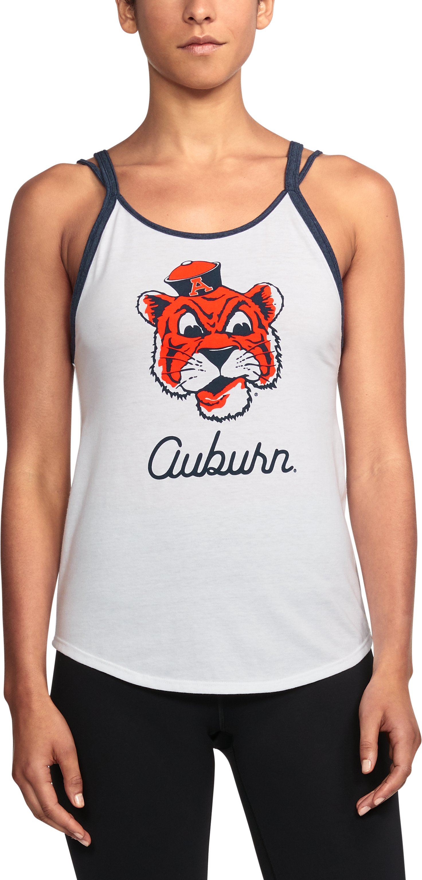 Women's Auburn UA Iconic Tank, White, undefined