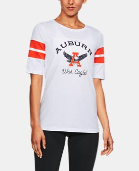 New Arrival Women's Auburn UA Iconic Charged Cotton® T-Shirt  1 Color $47.99