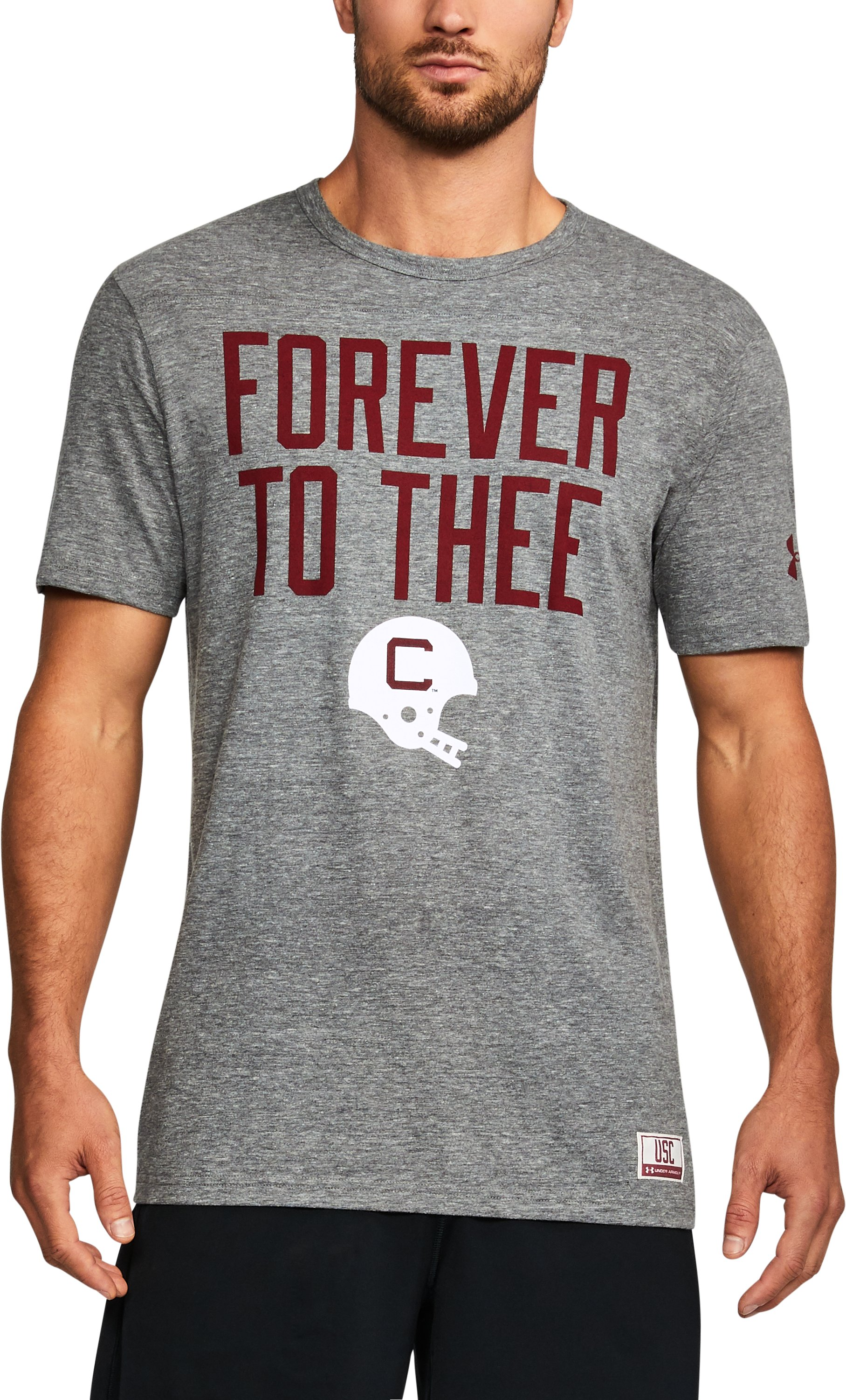 Men's South Carolina UA Iconic Tri-Blend T-Shirt, Gray