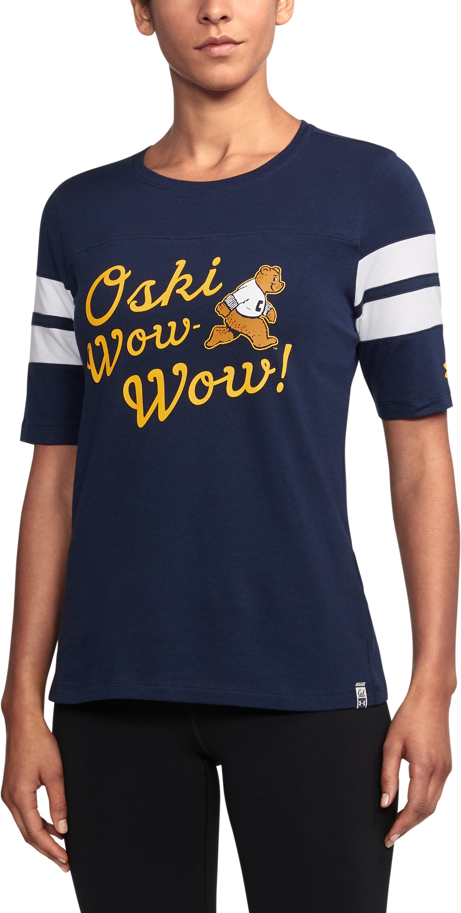 Women's Cal Bears UA Iconic Charged Cotton® T-Shirt, Midnight Navy