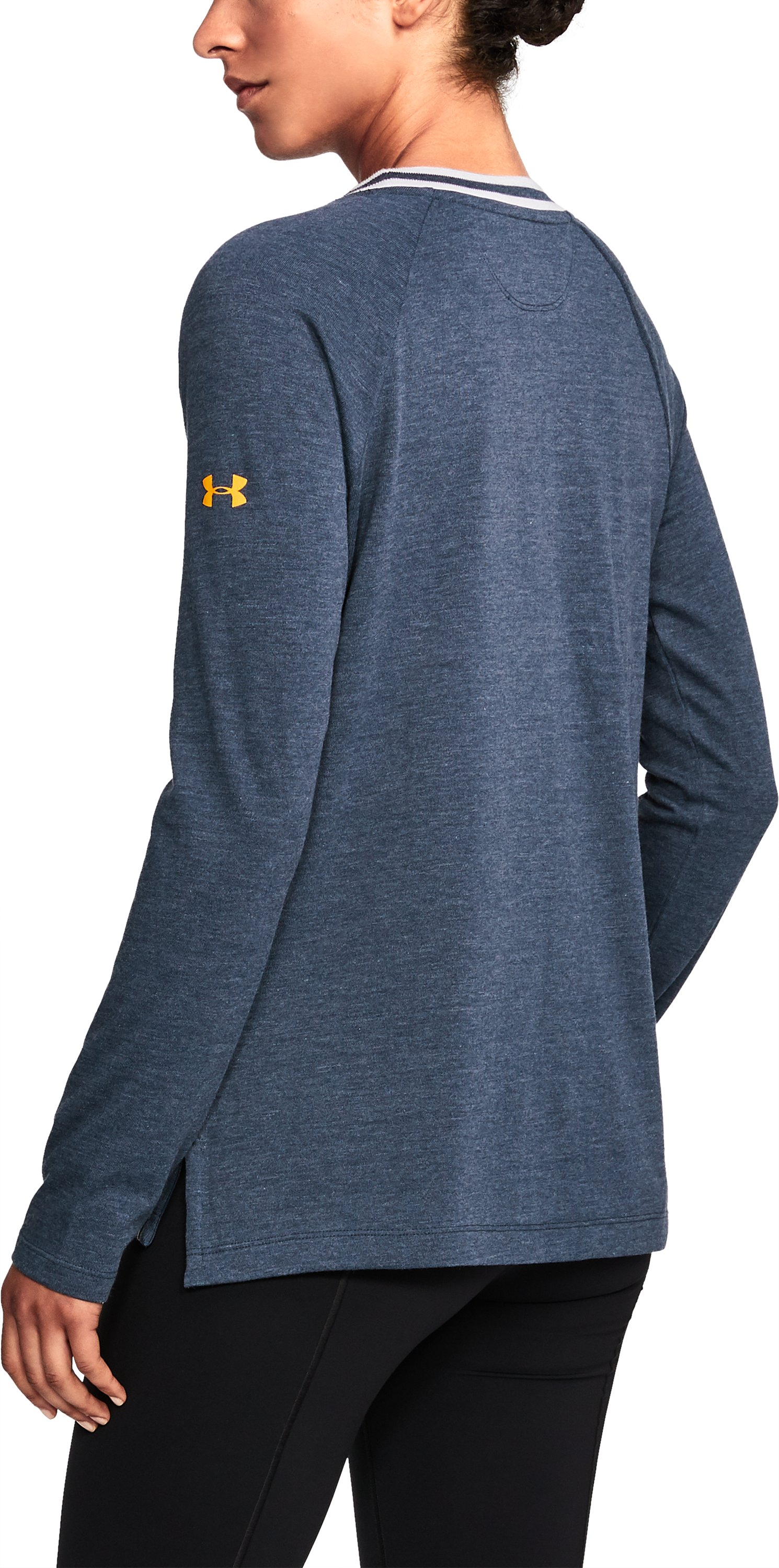 Women's Cal Bears UA Iconic Rugby Long Sleeve, Midnight Navy,