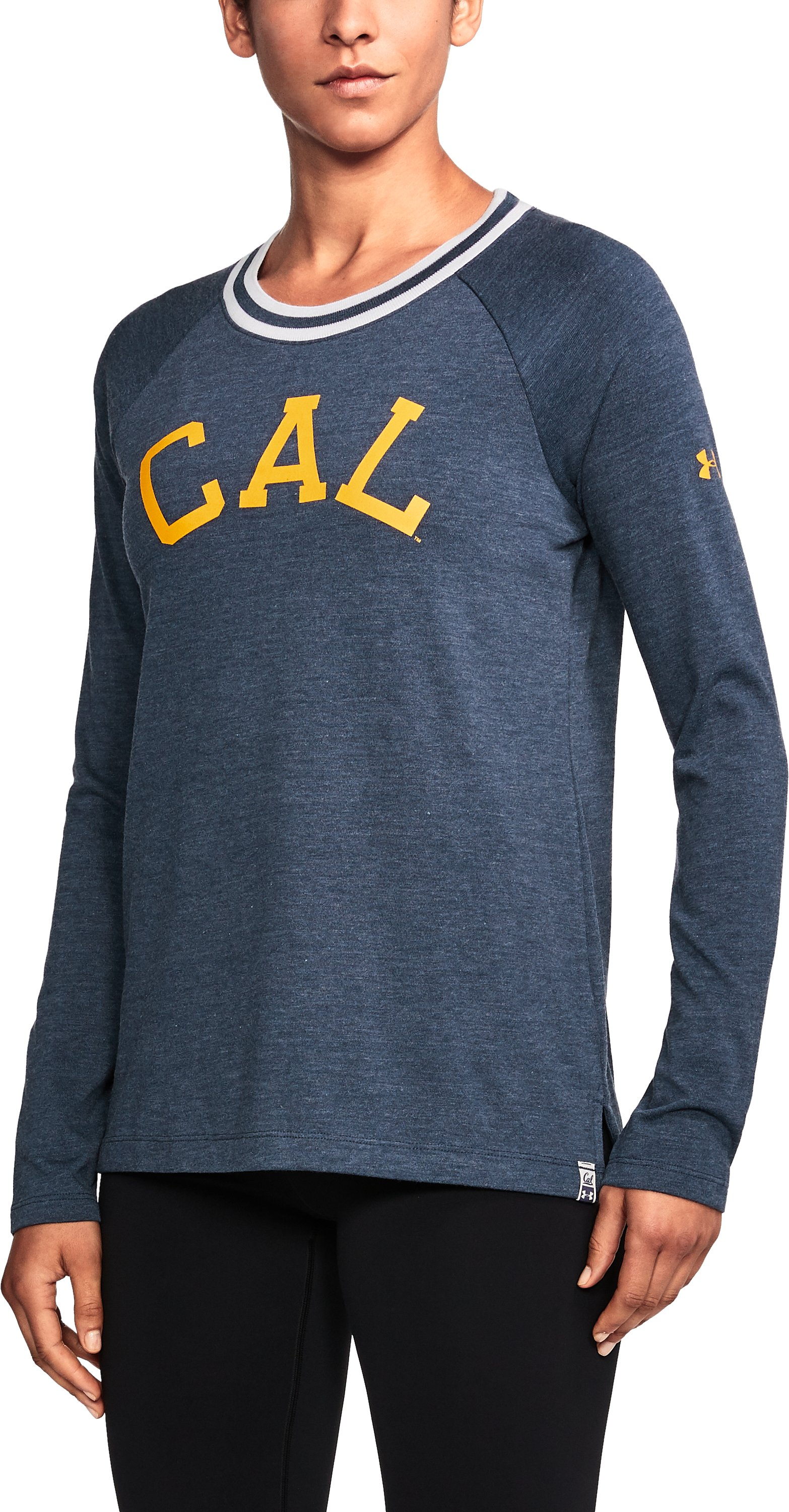 Women's Cal Bears UA Iconic Rugby Long Sleeve, Midnight Navy