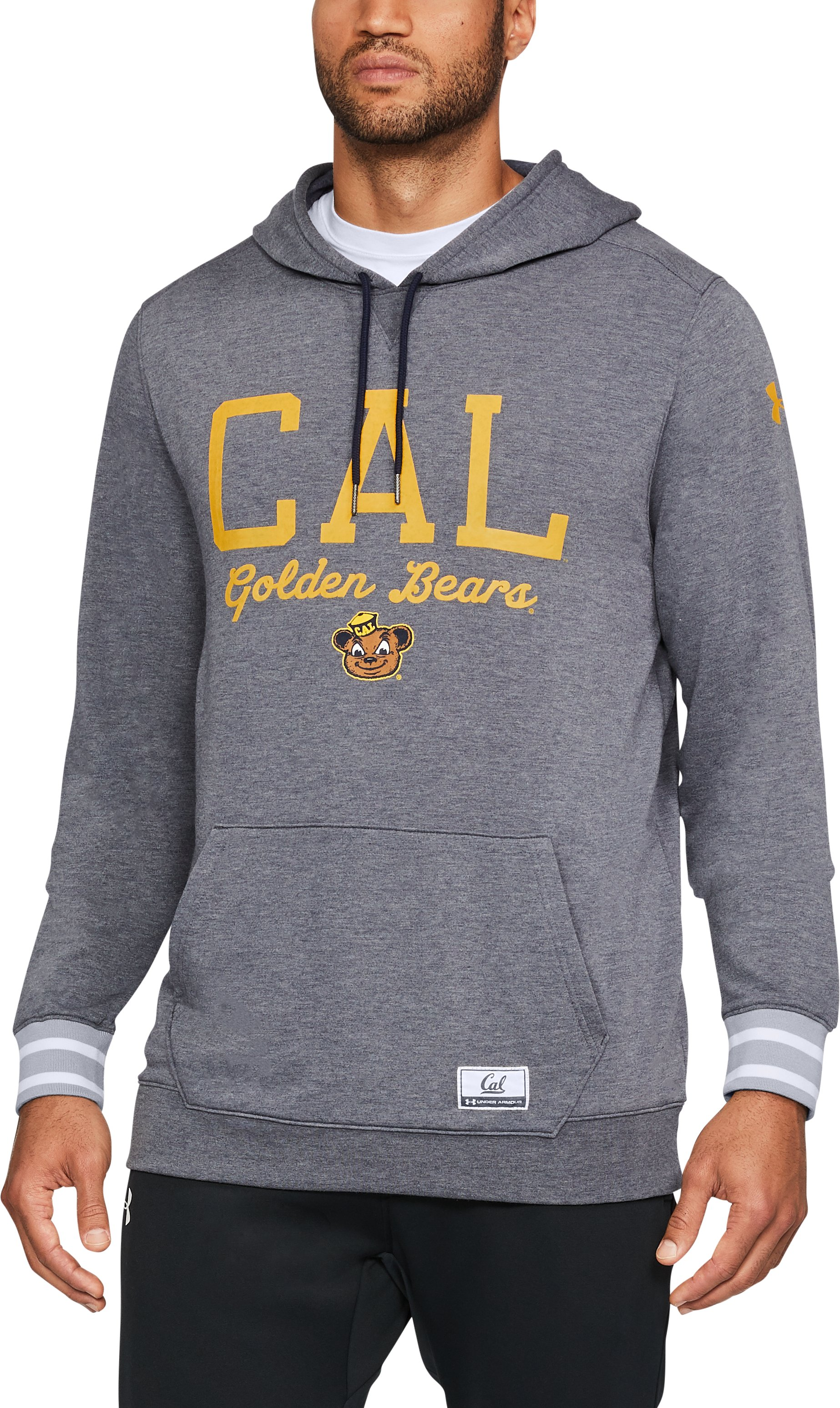 Men's Cal Bears UA Iconic Hoodie, Midnight Navy,