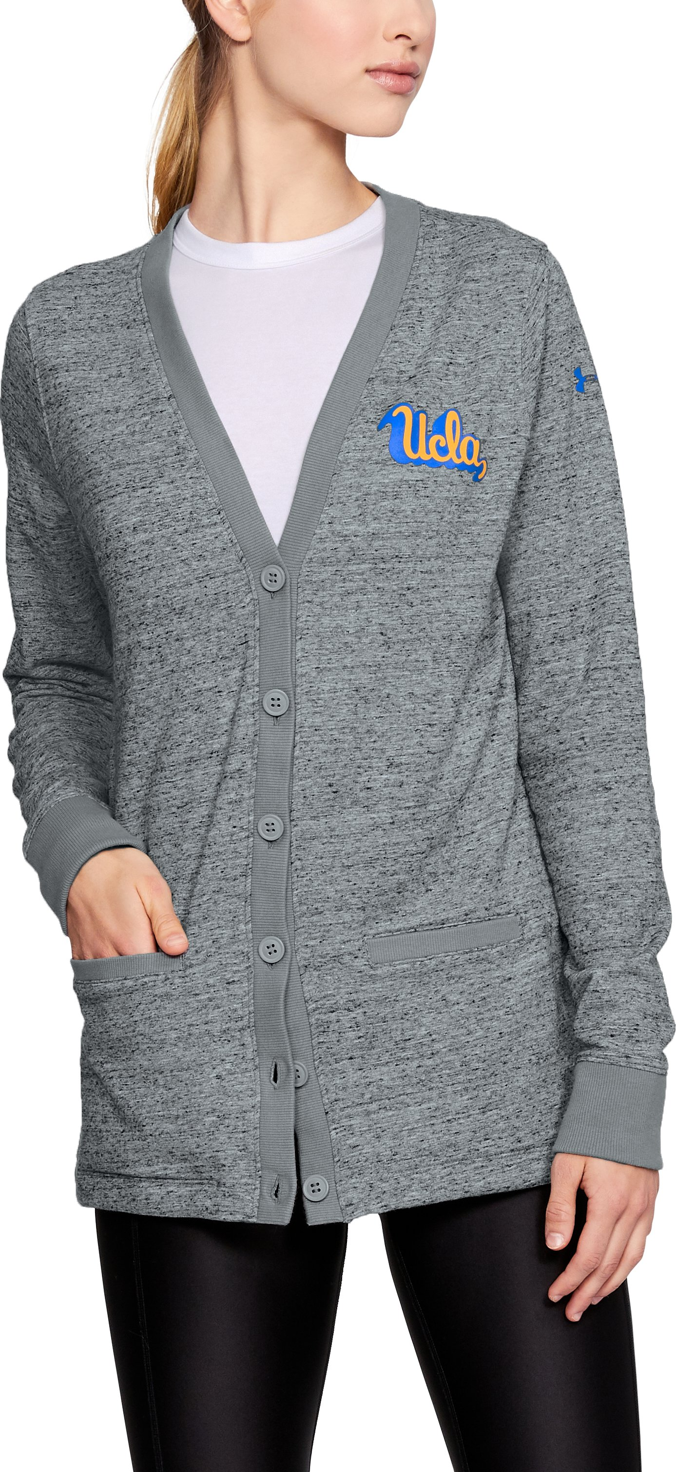 Women's UCLA UA Iconic Cardigan, Gray