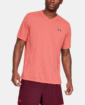 New Arrival  Men's UA Siro Short Sleeve V-neck  1  Color Available $35