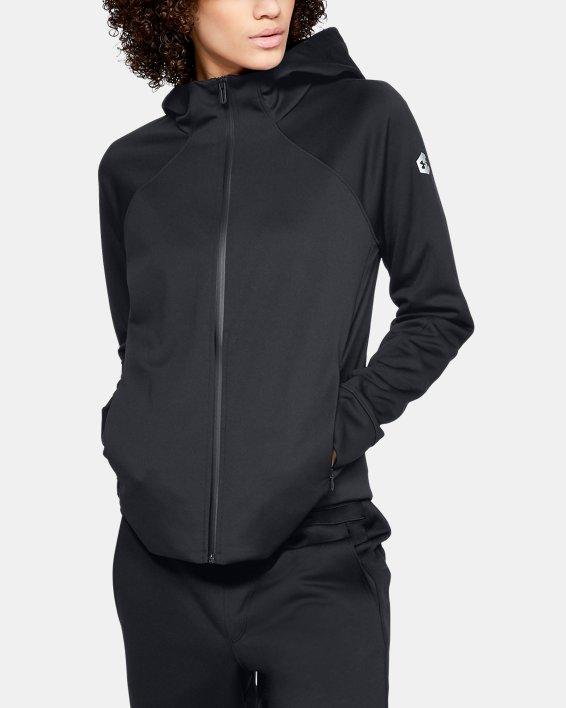 Women's UA RECOVER™ Track Jacket, Black, pdpMainDesktop image number 0