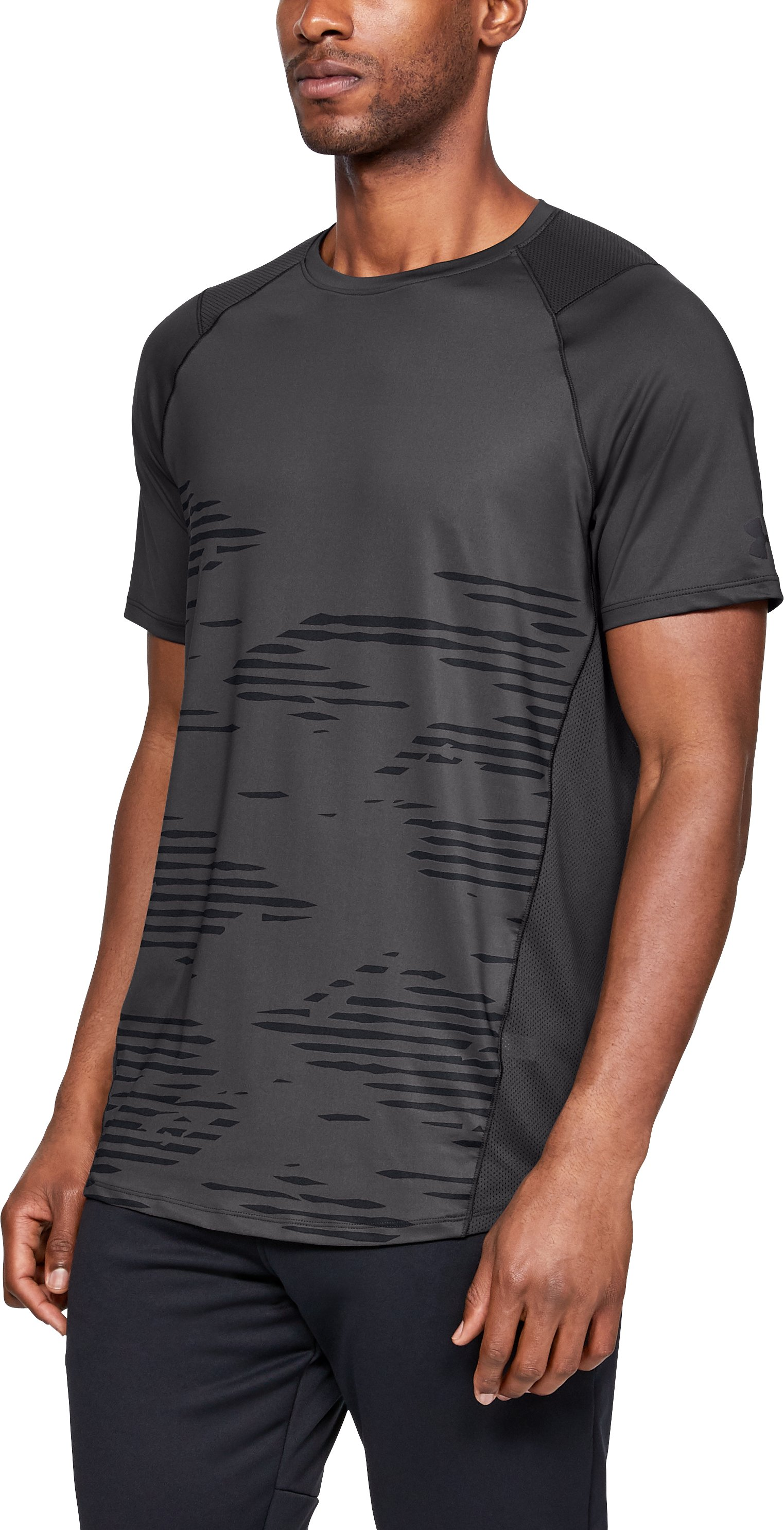 Men's UA MK-1 Camo Short Sleeve, Charcoal