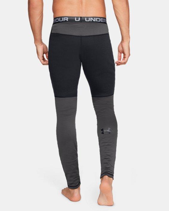 Men's UA Twill Extreme Base Leggings, Black, pdpMainDesktop image number 2