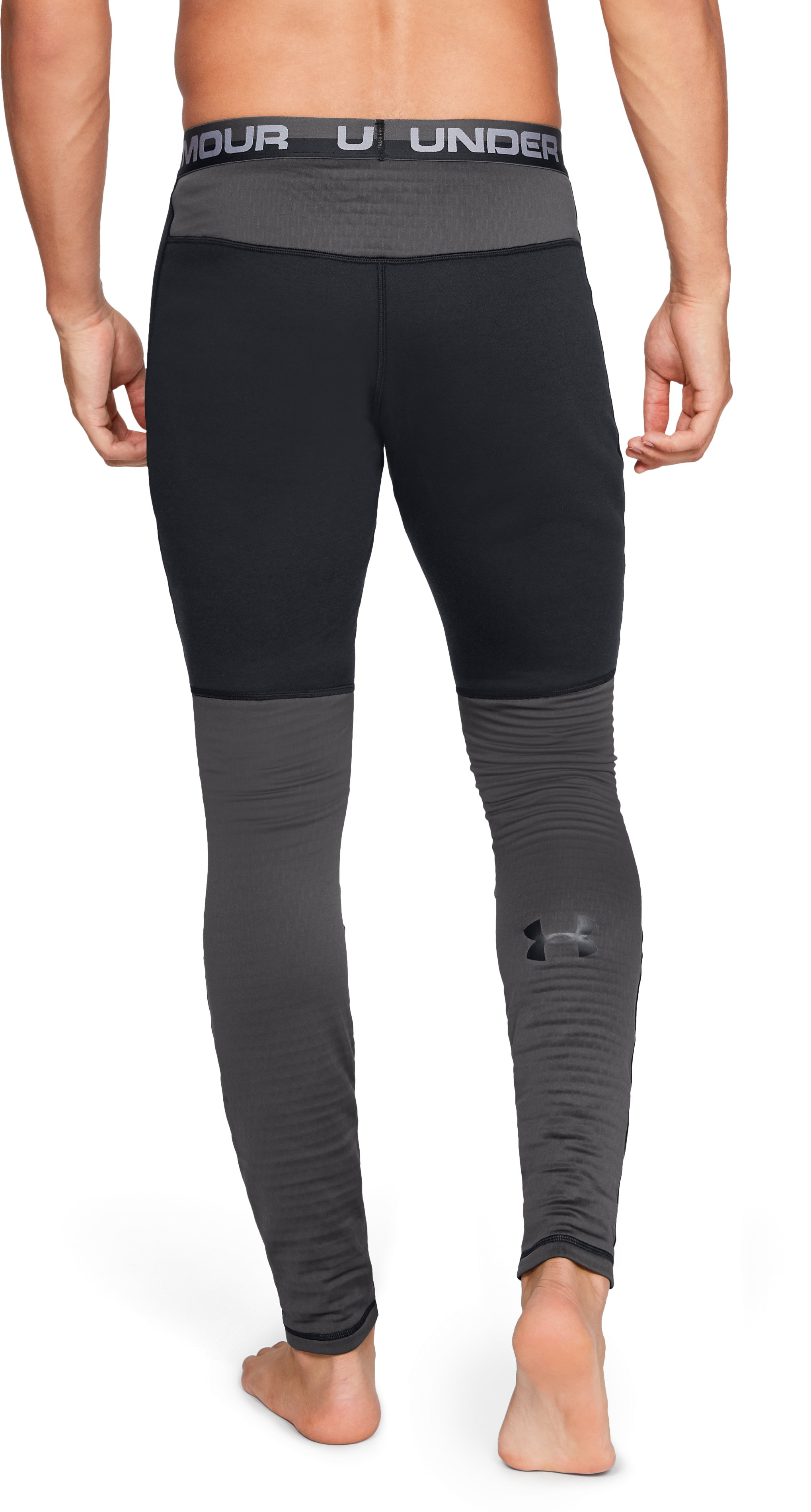 Men's UA Twill Extreme Base Leggings, Black ,