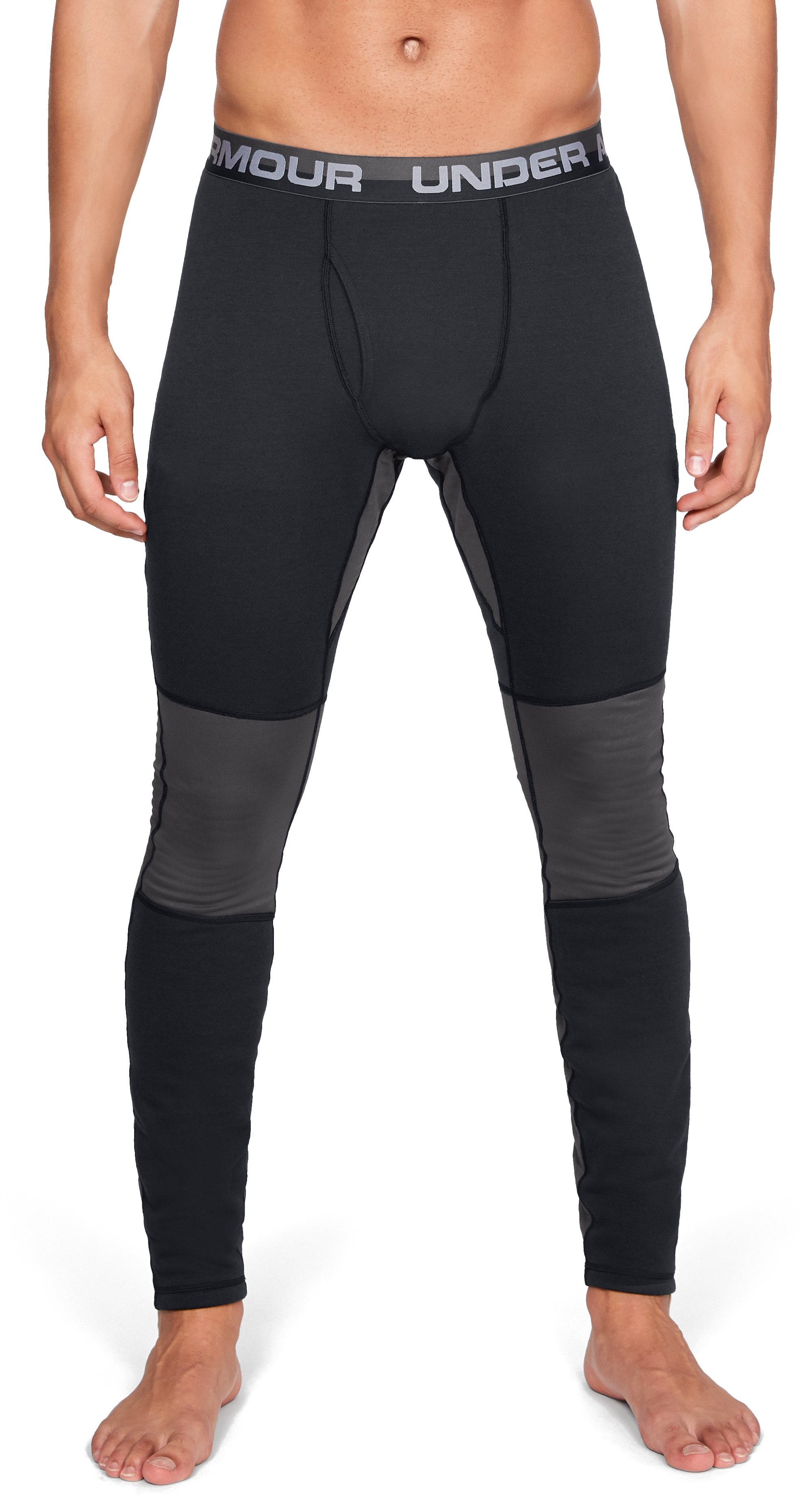 Men's UA Twill Extreme Base Leggings, Black