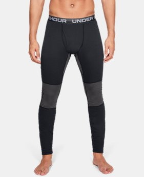 New Arrival Men's UA Twill Extreme Base Leggings  1  Color Available $80