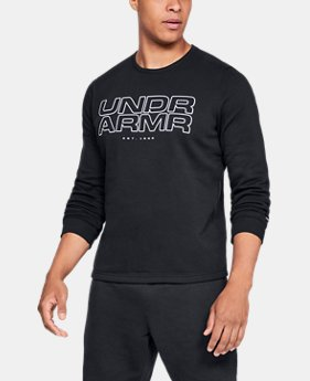 Men's UA Baseline Fleece Crew  1  Color Available $55
