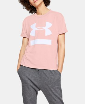 Women's UA Big Logo Girlfriend Crew  1  Color Available $30